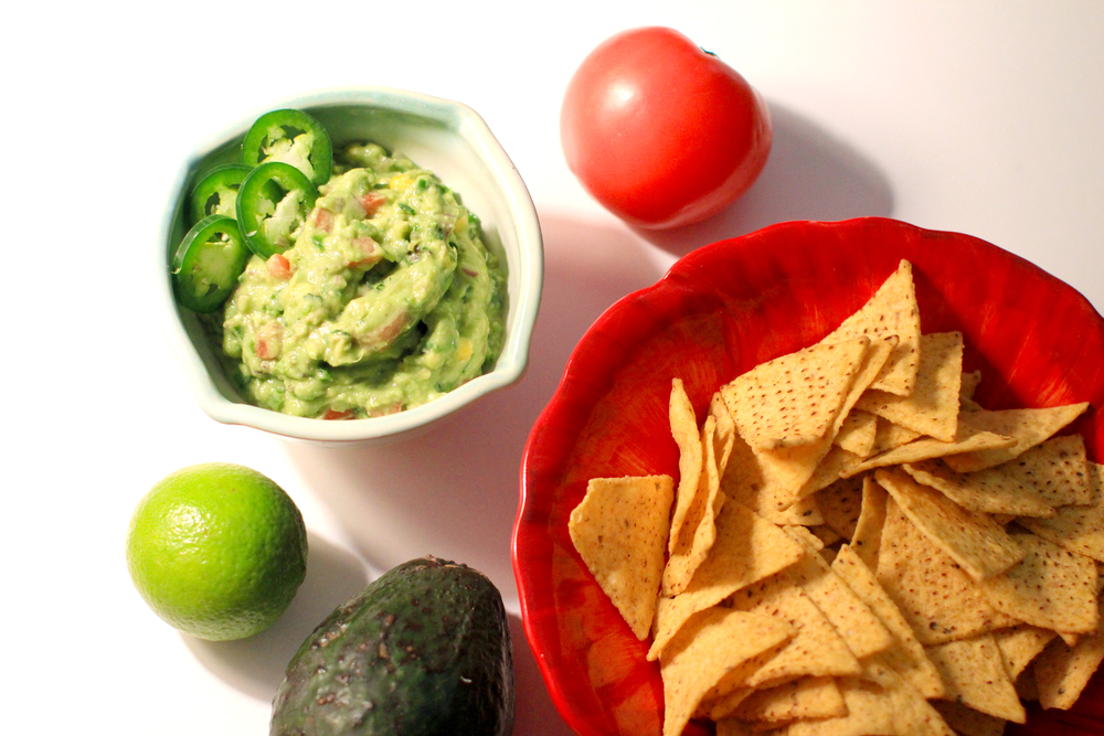 Loaded Guacamole with corn