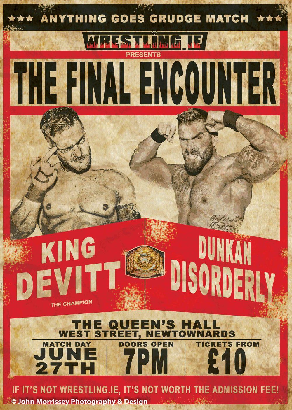 Wrestling Poster Vintage Concept.