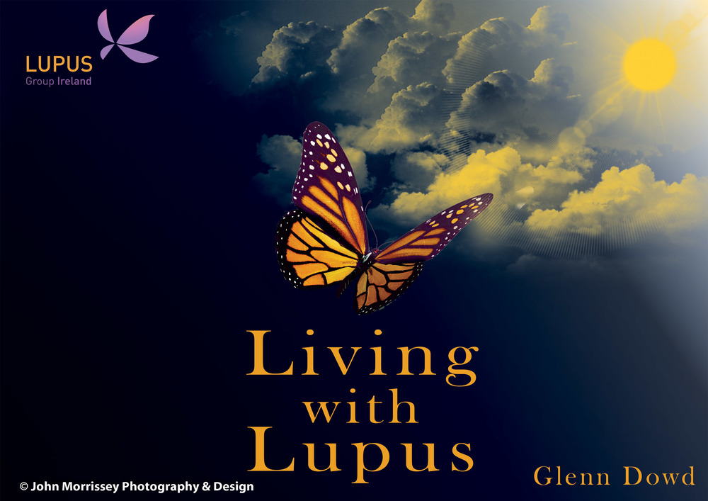 Living with Lupus Book Cover Design.