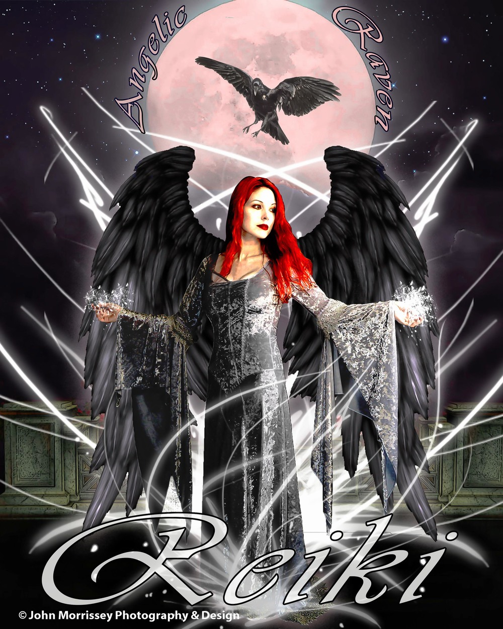 Angelic Raven Reiki Promotional Artwork.