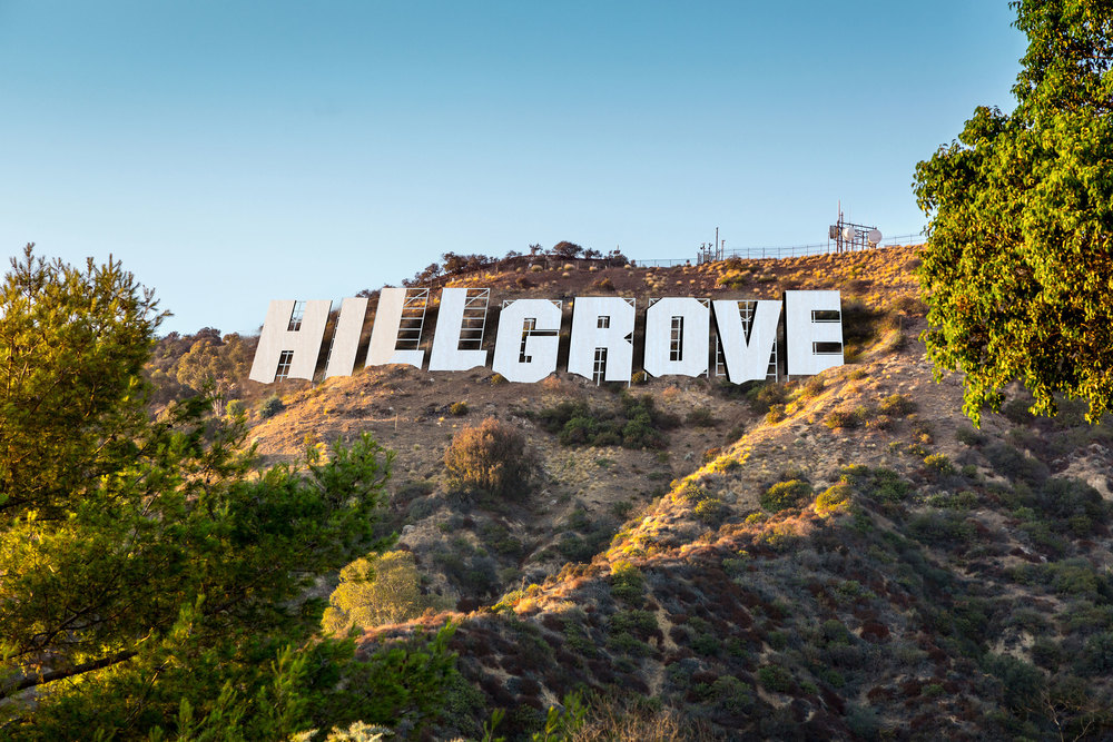 Hillgrove Hotel 'Hollywood' Sign.