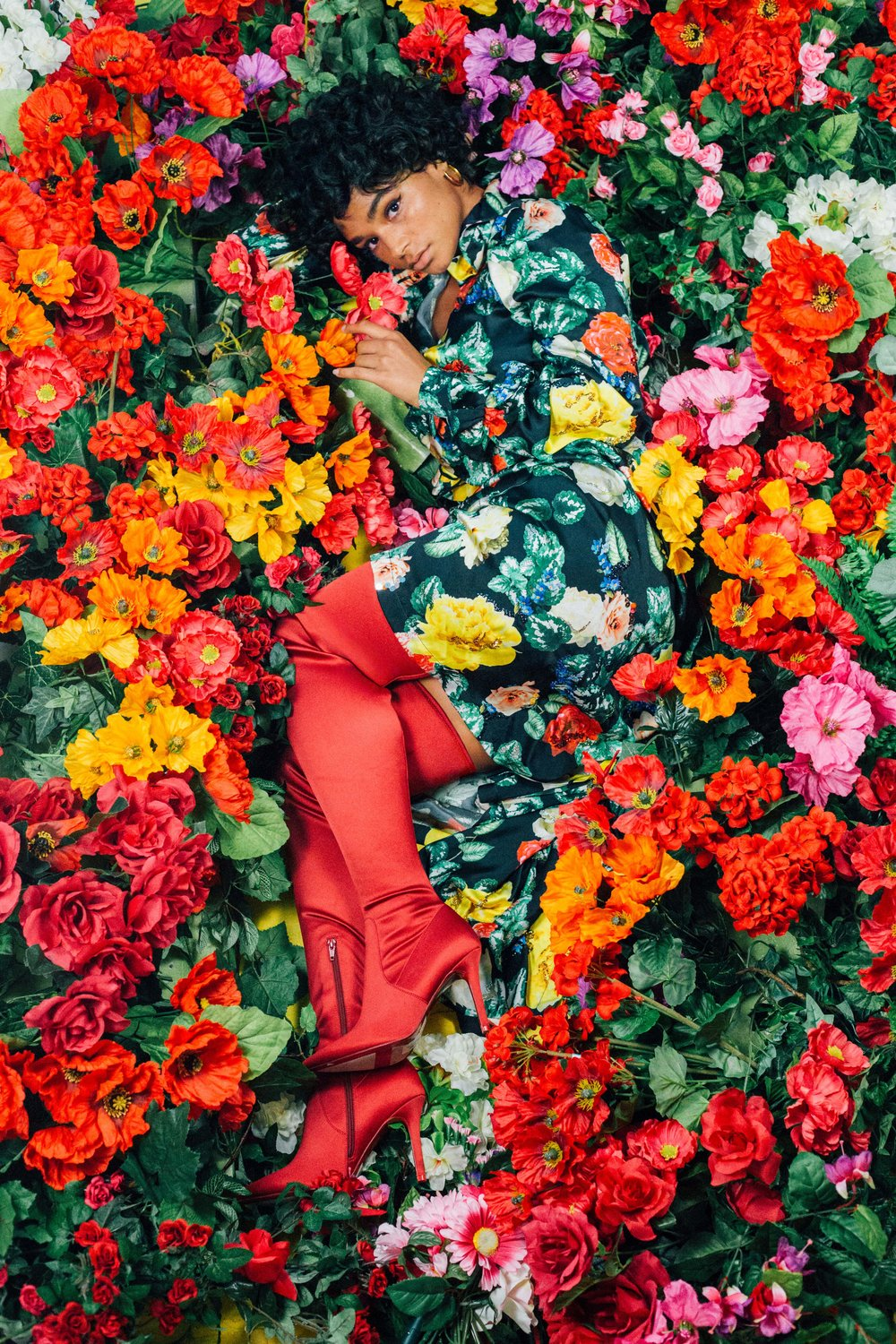 The Power of Red Boots     for Refinery29, 2017.  Model: Aiyana Lewis