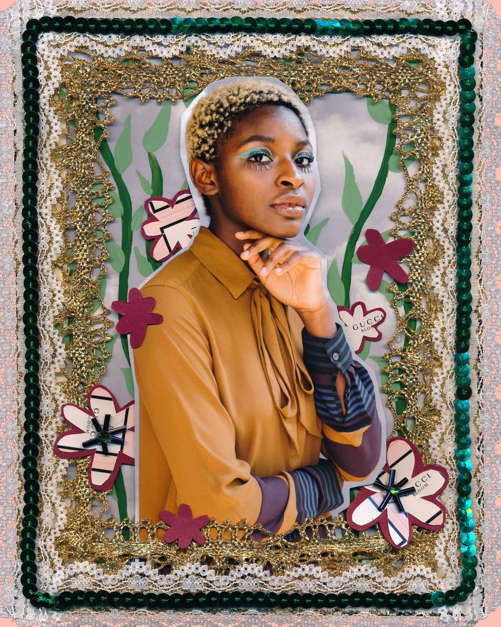 In Bloom, 2017.  In collaboration with Gucci Beauty.  Model: Rokhaya Sylla