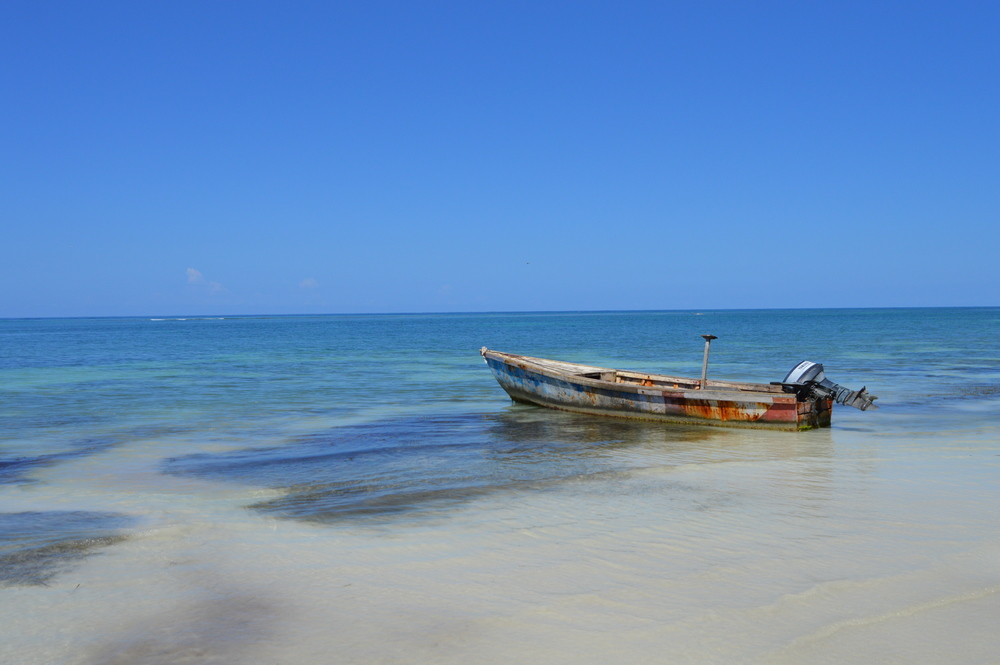 Fishing boat for hire in Westmoreland Parish Jamaica. By Jesse Toth