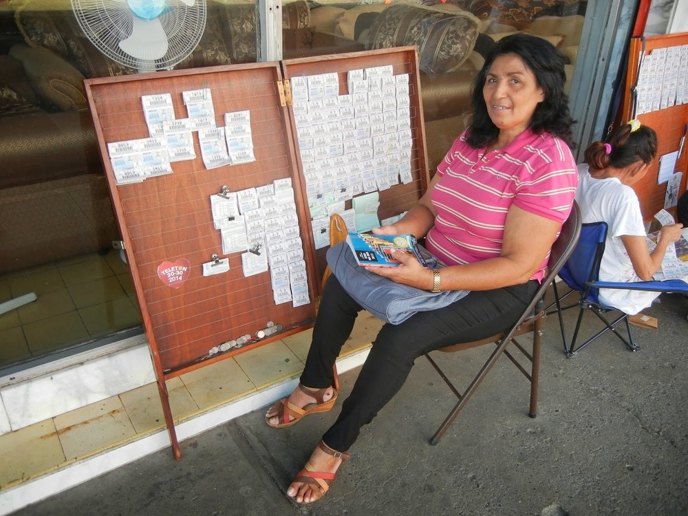A woman selling tickets in Chitré, a provincial capital.
