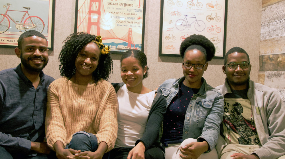 From Left to Right: Rhian Carreker-Ford, Adrienne Hall, Olivia Oxley, Portia Boykin, Steven Ellison