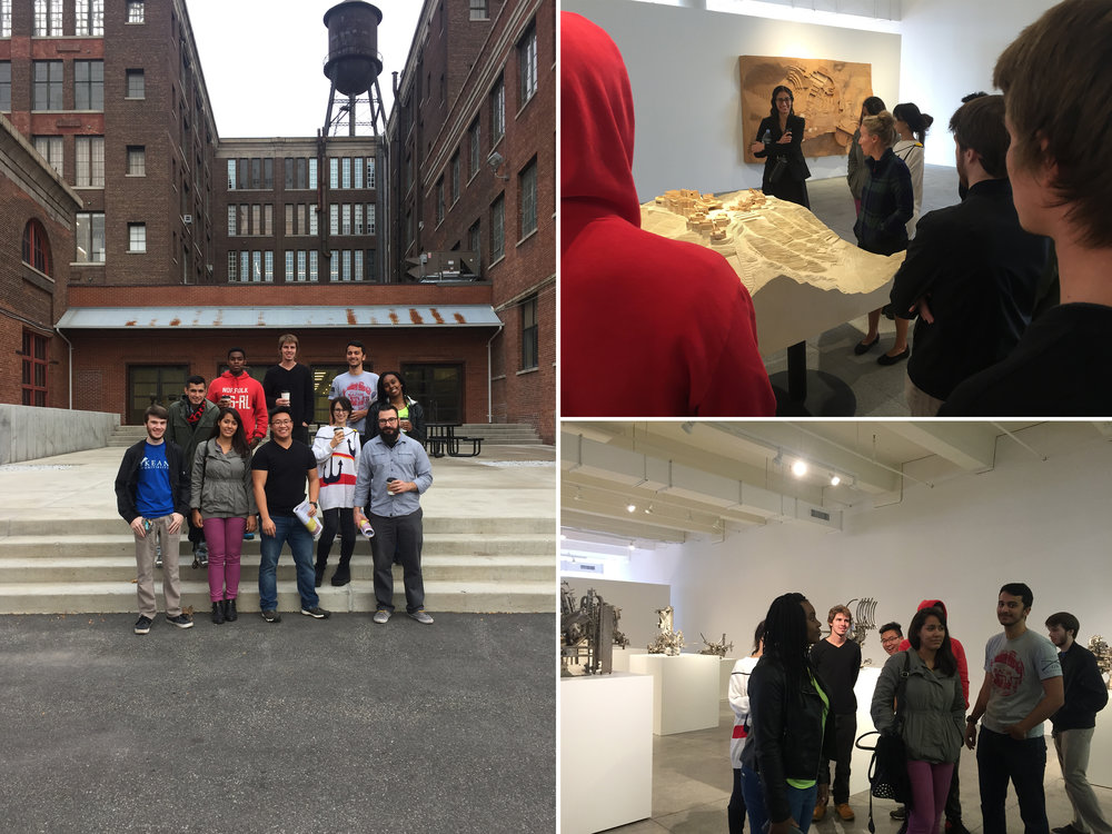 Mana Contemporary, what a great place for Michael Graves College students to visit! A ton of well accomplished artist & designer studios, amazing galleries. Highly recommended.