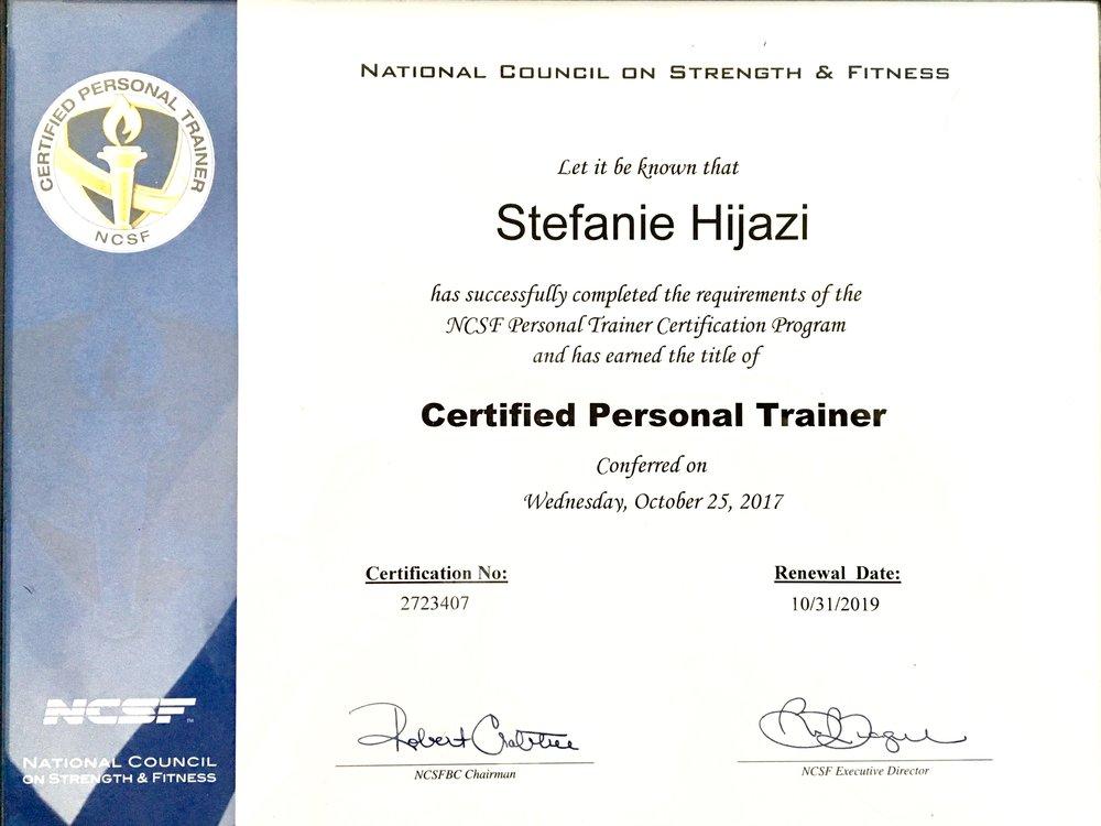Fitness Stefanie Hijazi