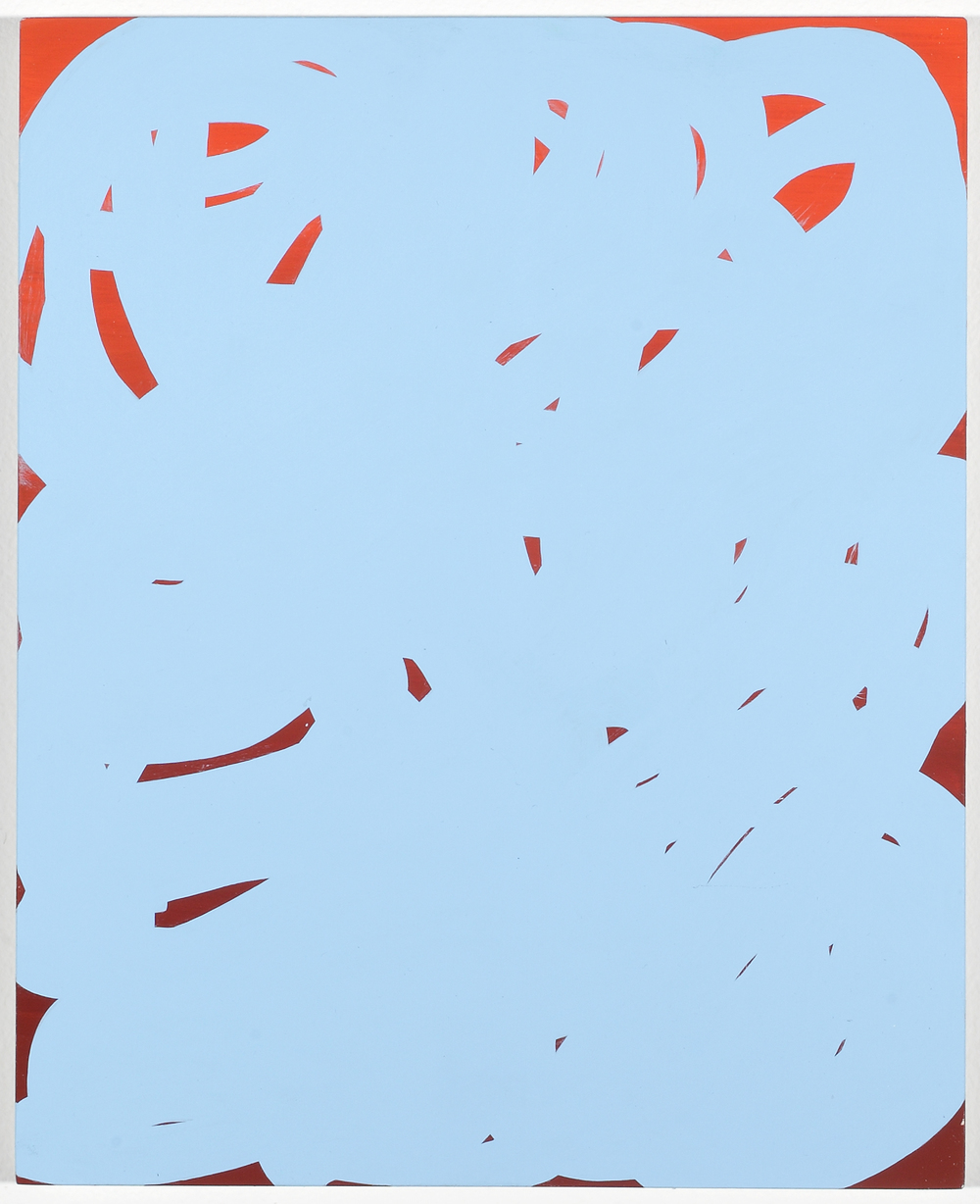 Quell (Reverse Shadow Painting)  2010  Acrylic on board 34 x 27.5cm