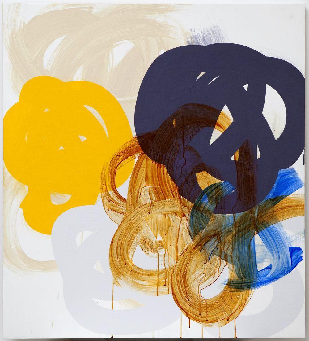 Brown Blue Orange Grey #1 2012  Acrylic on board  100 x 90cm