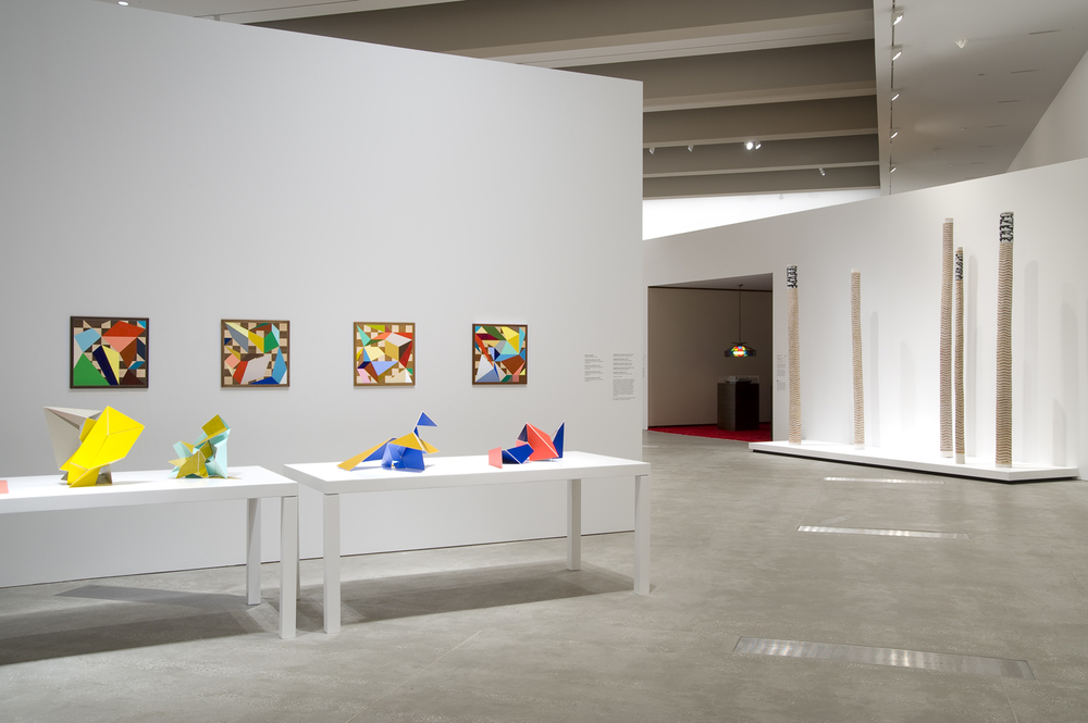 'ContemporaryAustralia: Optimism'2008  Gallery of Modern Art, Queensland Art Gallery, Brisbane Installation view Paintings and sculptures to the left