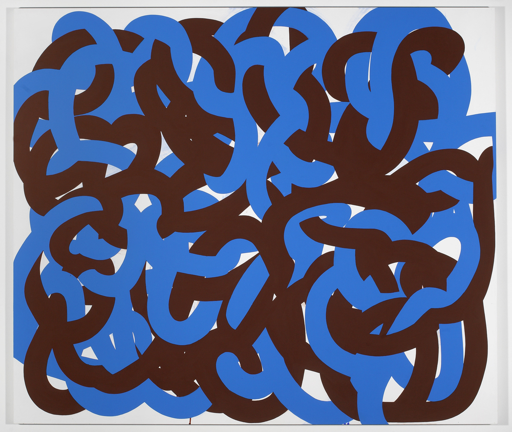 Big Tangle (Blue/Brown)   2010  Acrylic on board   150 x 120cm