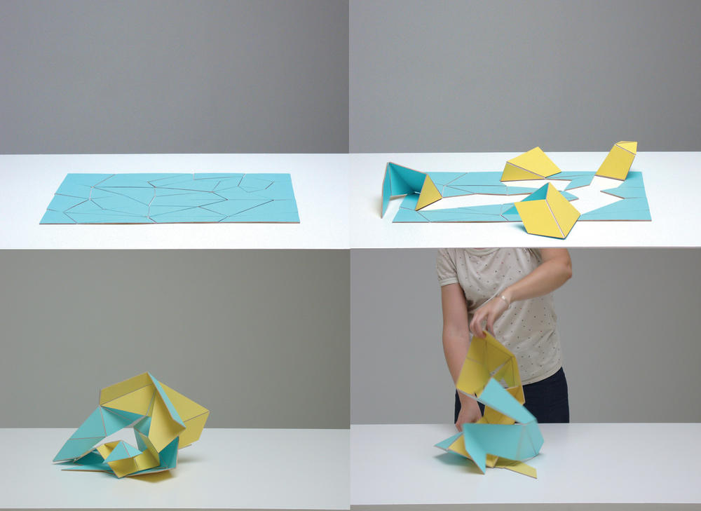 Adaptable (lemon/turquoise) 2006  Acrylic on aircraft plywood  Dimensions variable