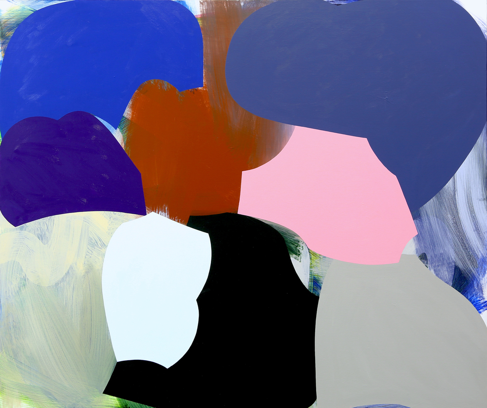 Weight and Waver   2015  Acrylic on linen   138.5 x 118.5 cm