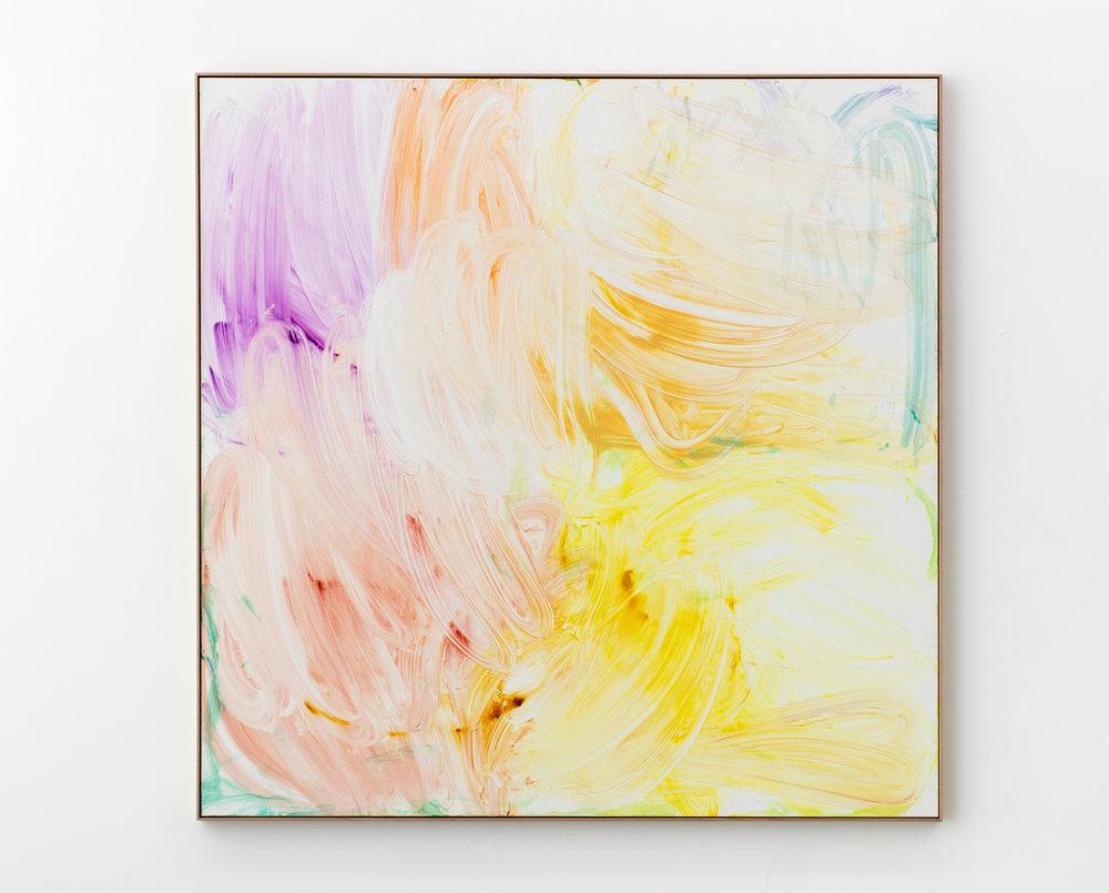 Skew 2017  Acrylic on linen  185 x 185 cm