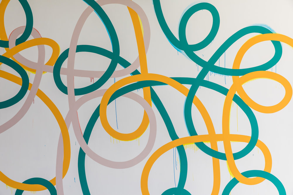 Triple Tangle  2018 (detail)  Museum of Contemporary Art Foyer Wall Commission Synthetic polymer paint on wall 15 x 7 m