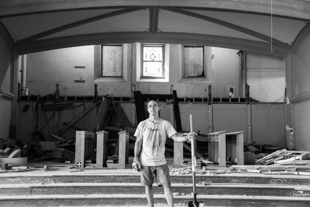 """I have raised him up in righteousness and I will direct his ways; He shall build My city and let My exiles go free, not for price nor reward."" (Isaiah 45:13)  By the sweat of his brow and his heart, my husband has poured himself into the reconstruction of a church in Lowell.  Called by God to serve Lowell in 1998, our family has mentored hundreds of kids through basketball leagues, Bible studies, hiring young men for work, discipling children, sending them to Christian camps, VBS, messy pool parties, and Sunday school classes."
