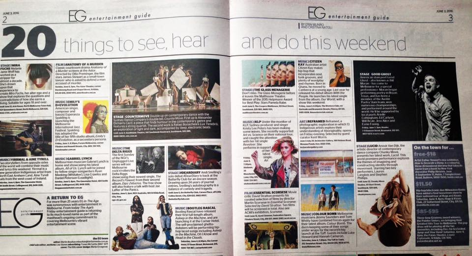 #DearDiary featured in The Age's Shortlist of Top 20 Things To Do in Melbourne
