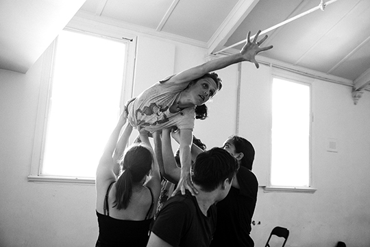 Me flying at the Frantic Assembly workshop! (Photo: Joshua Cowie)