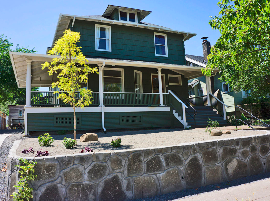 Our massage studio is located in a historic portland house that has been beautifully renovated.  we are tucked away in the woodlawn neighborhood on the corner of 6th and dekum street.  our building is by appointment only and a door code is required to enter.
