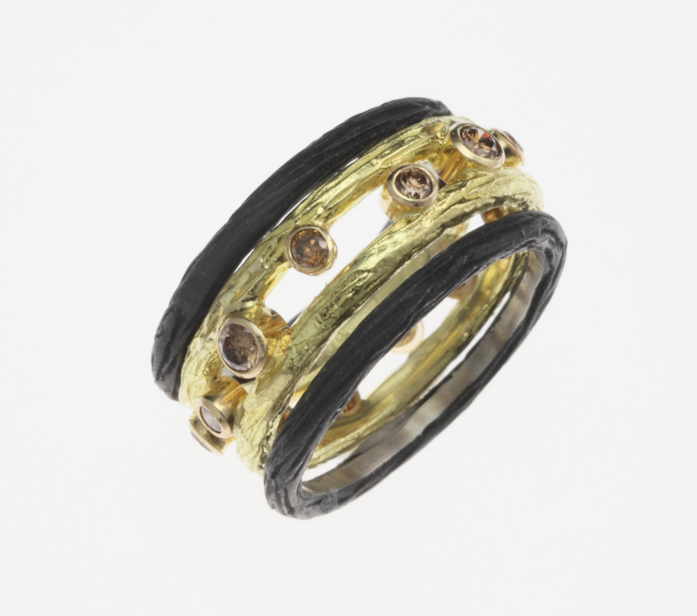 BlackGoldCognacDiaTrio Ring.jpeg