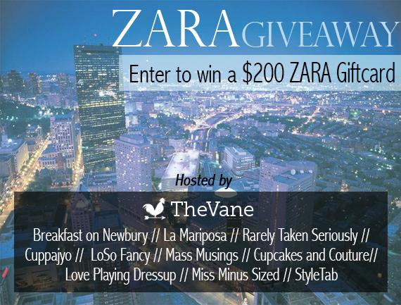 Zara giveaway