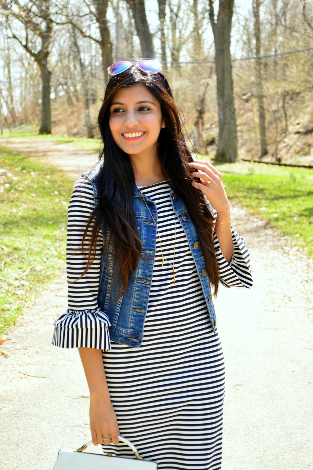 Striped Midi Dress 2