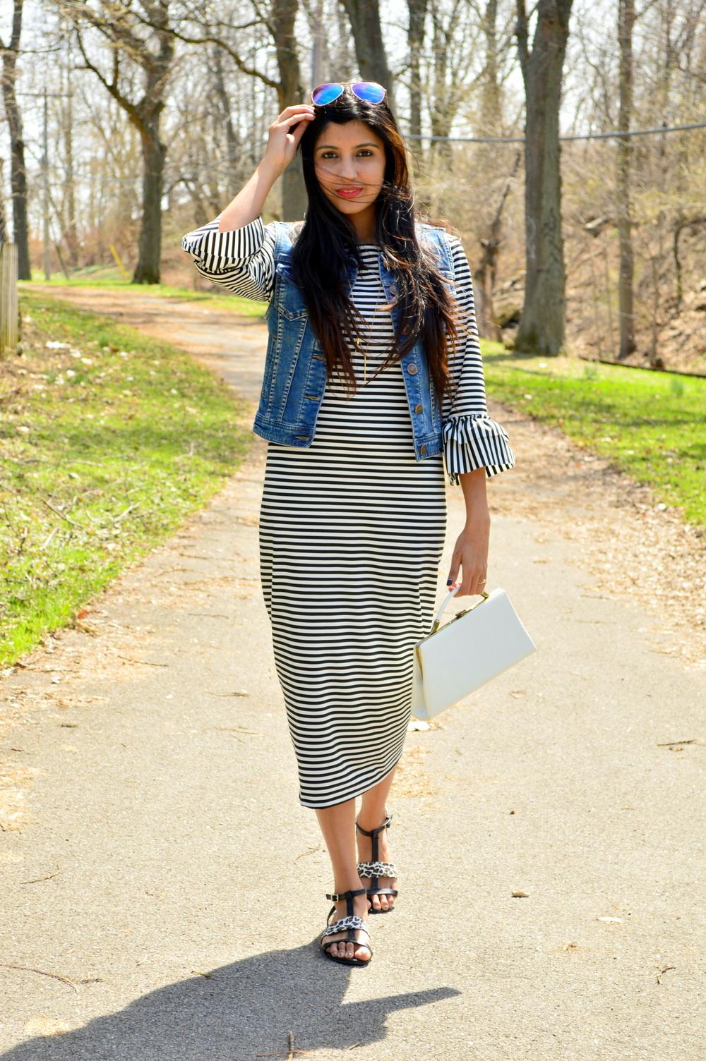 Striped Midi Dress 3