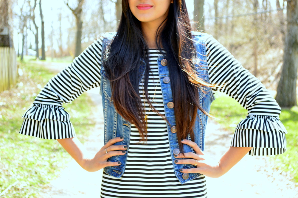 Striped Midi Dress 4