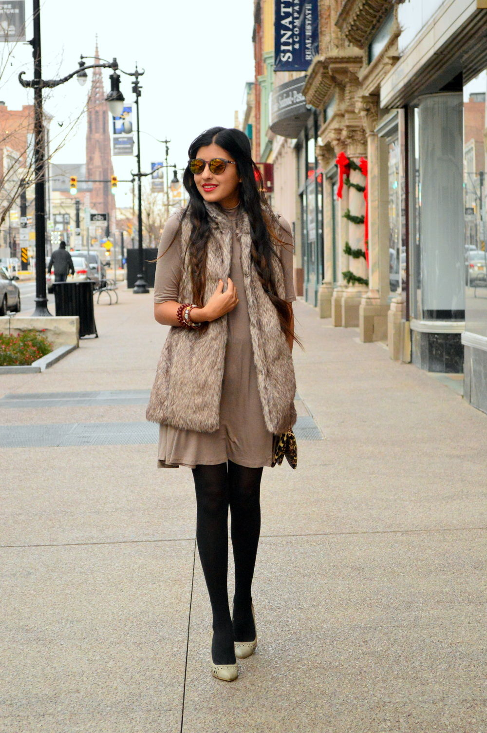 Taupe layers-faux fur 3