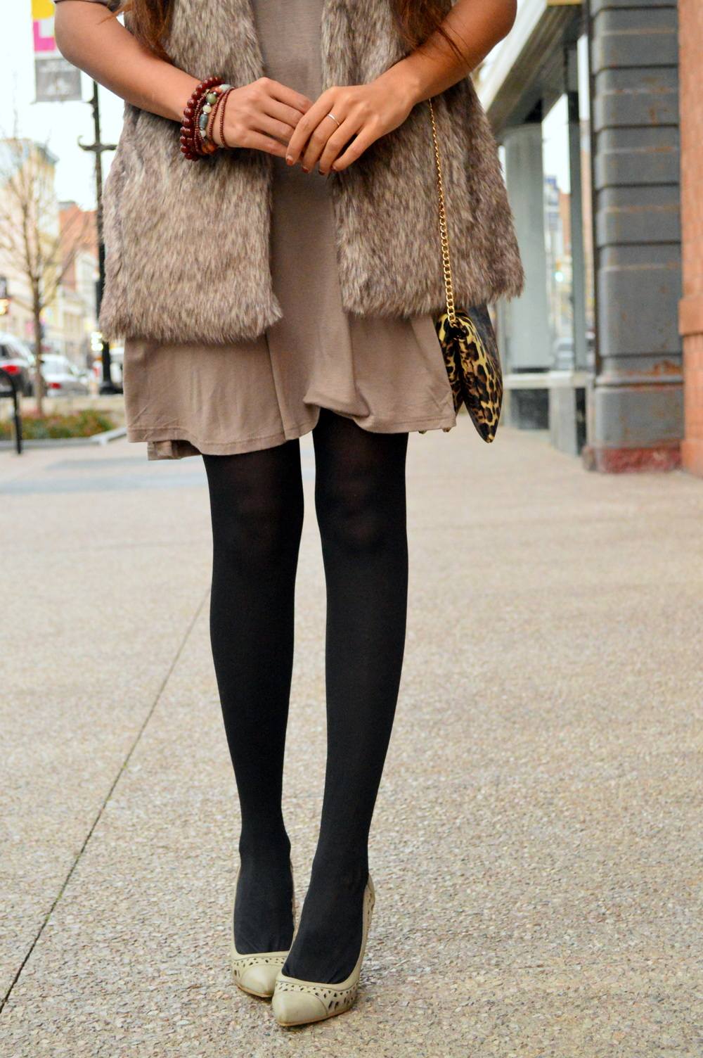 Taupe layers-faux fur 5