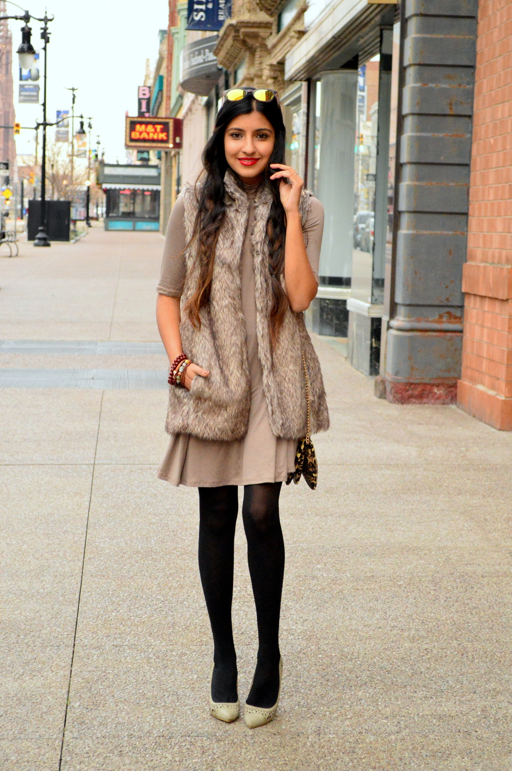 Taupe layers-faux fur 6