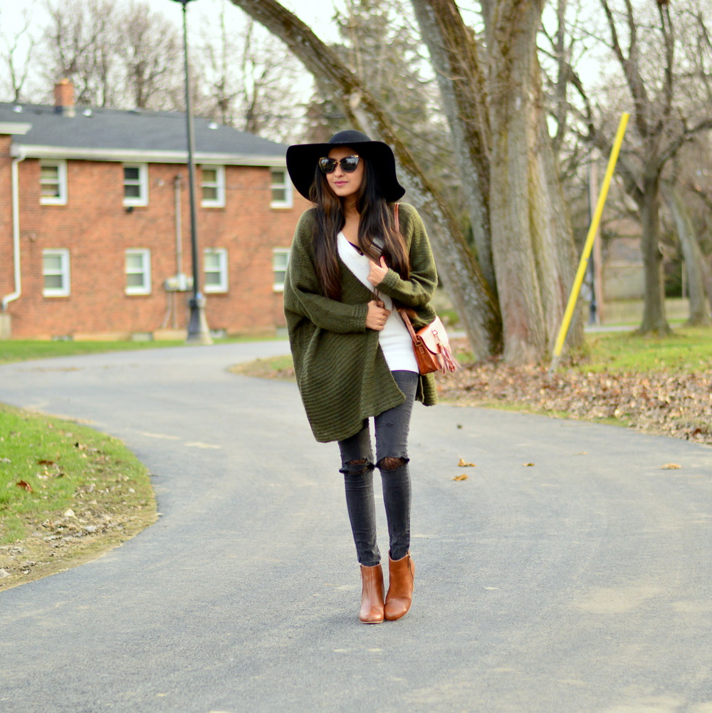 Olive Cardigan-cozy chic 1