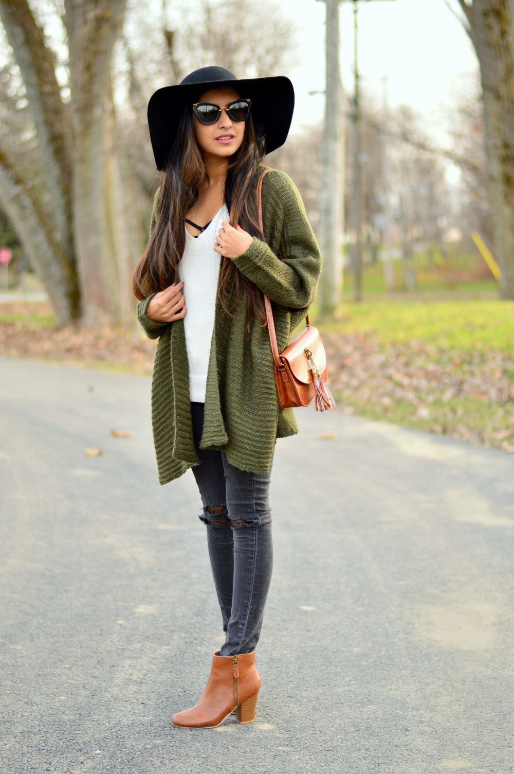 Olive Cardigan-cozy chic 5