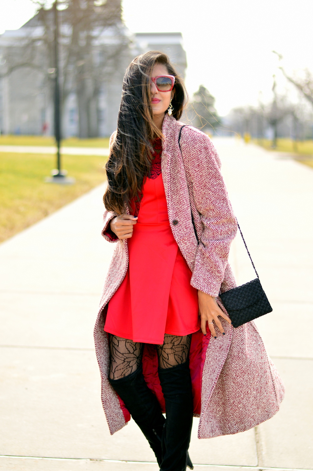 Little red dress-Valentine Day look 3