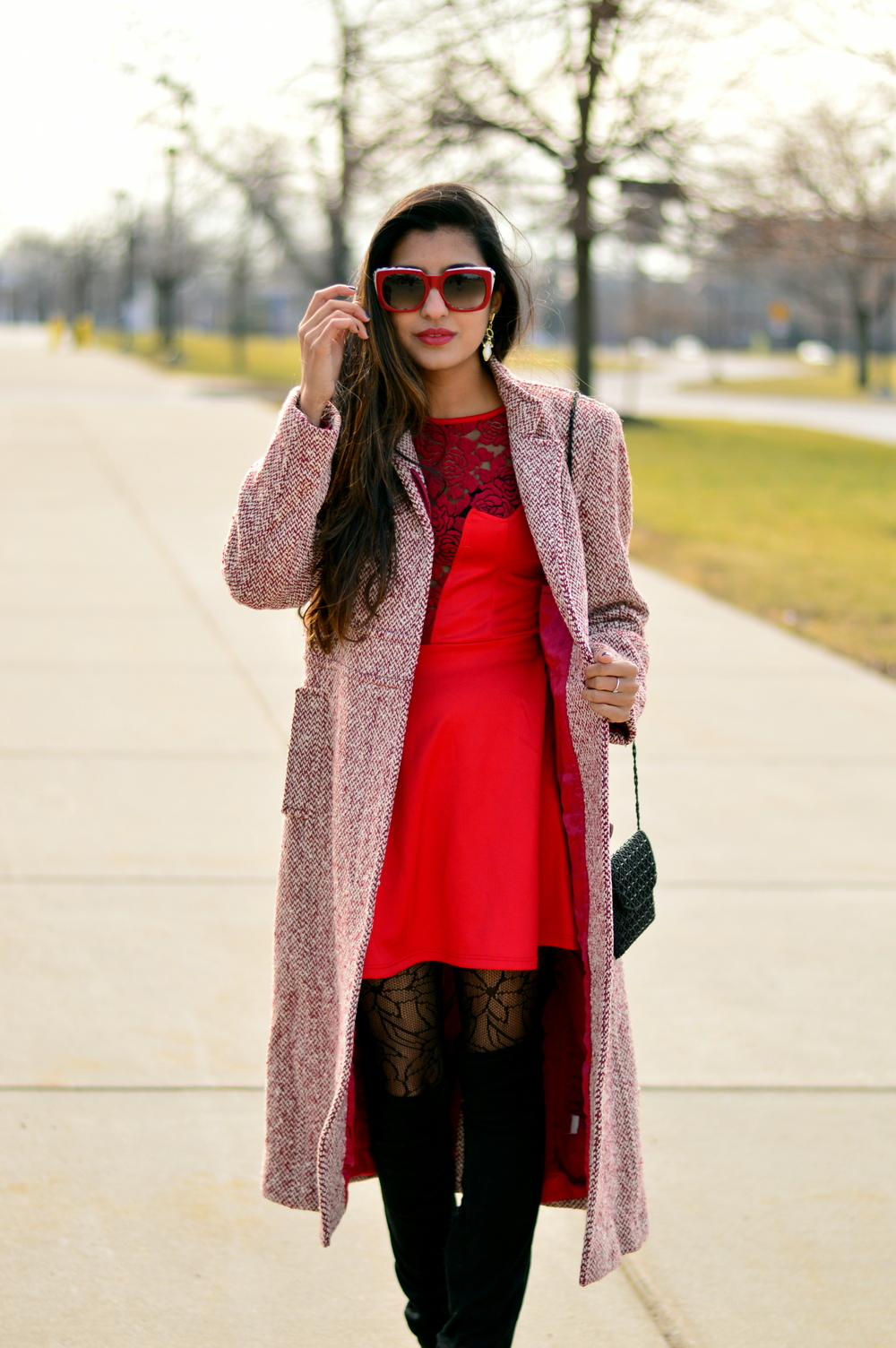 Little red dress-Valentine Day look 5