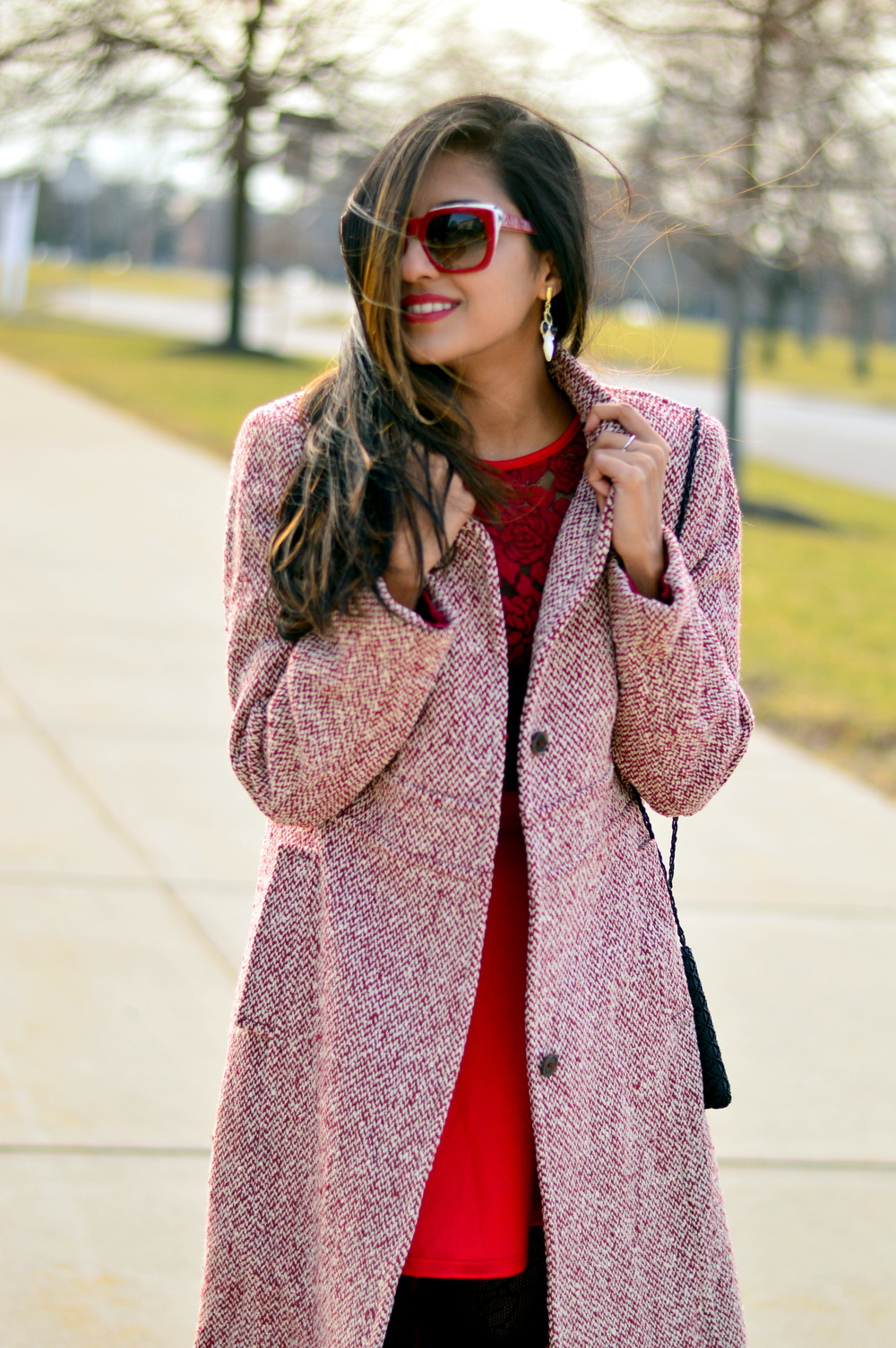 Little red dress-Valentine Day look 6