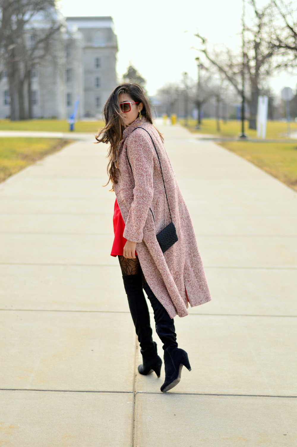 Little red dress-Valentine Day look 8
