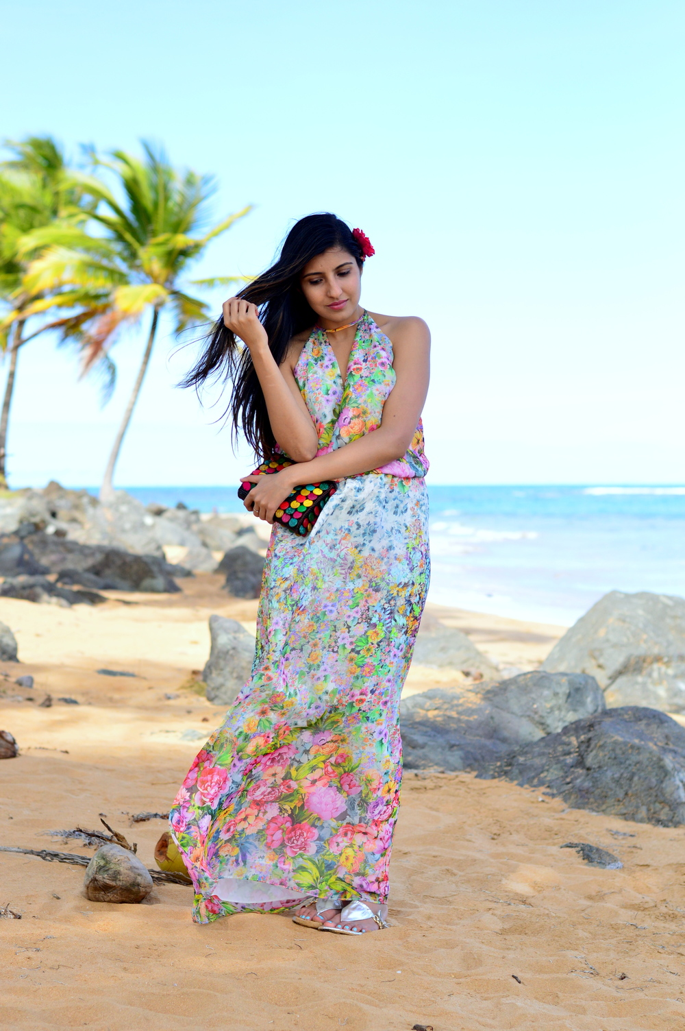 floral-maxi-dress-luquillo-beach