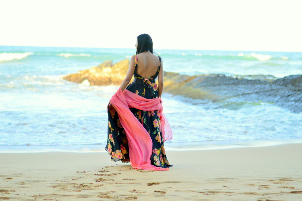 floral-lehenga-beach-vacation-style