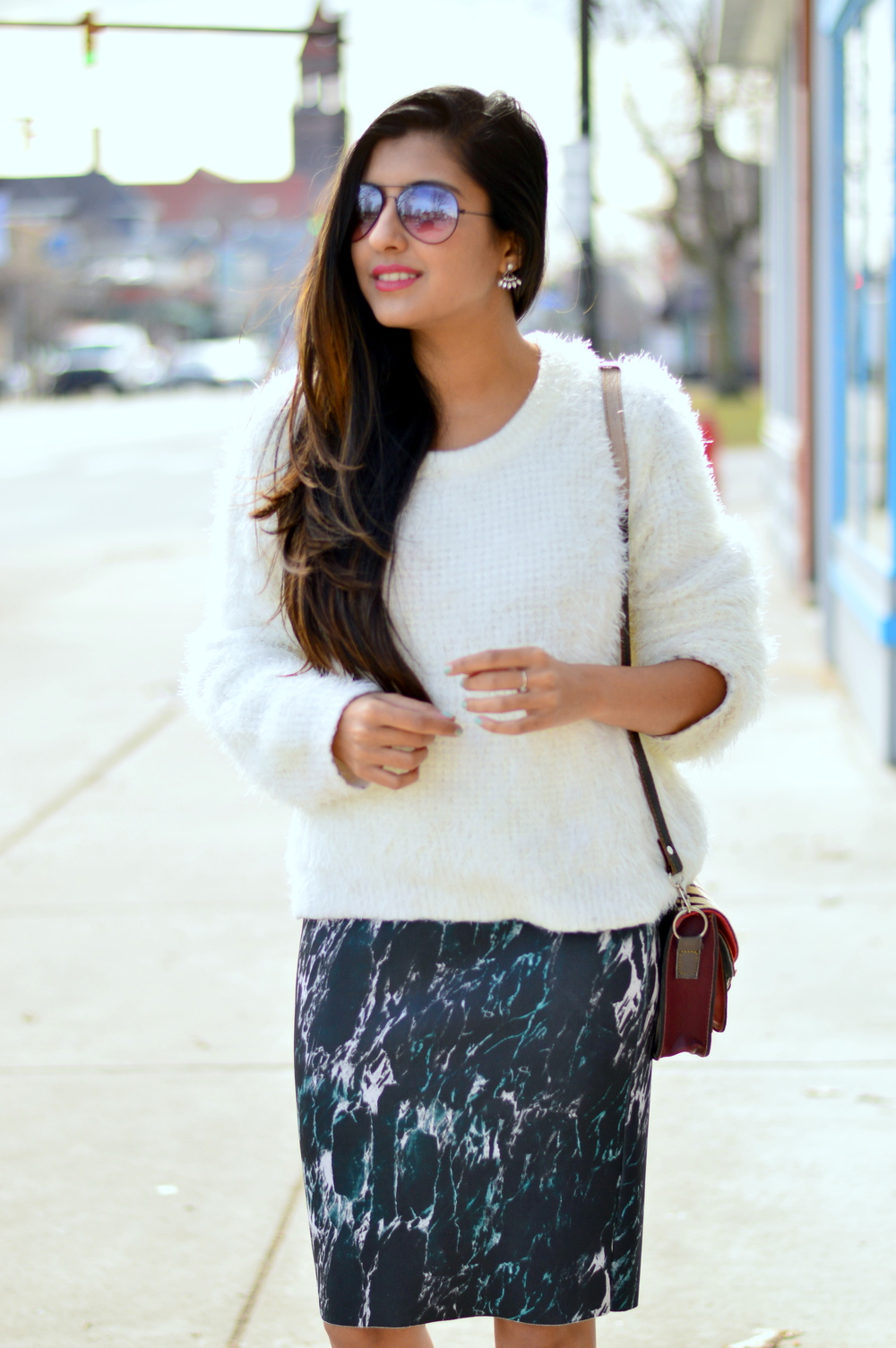 fuzzy-sweater-pencil-skirt 2
