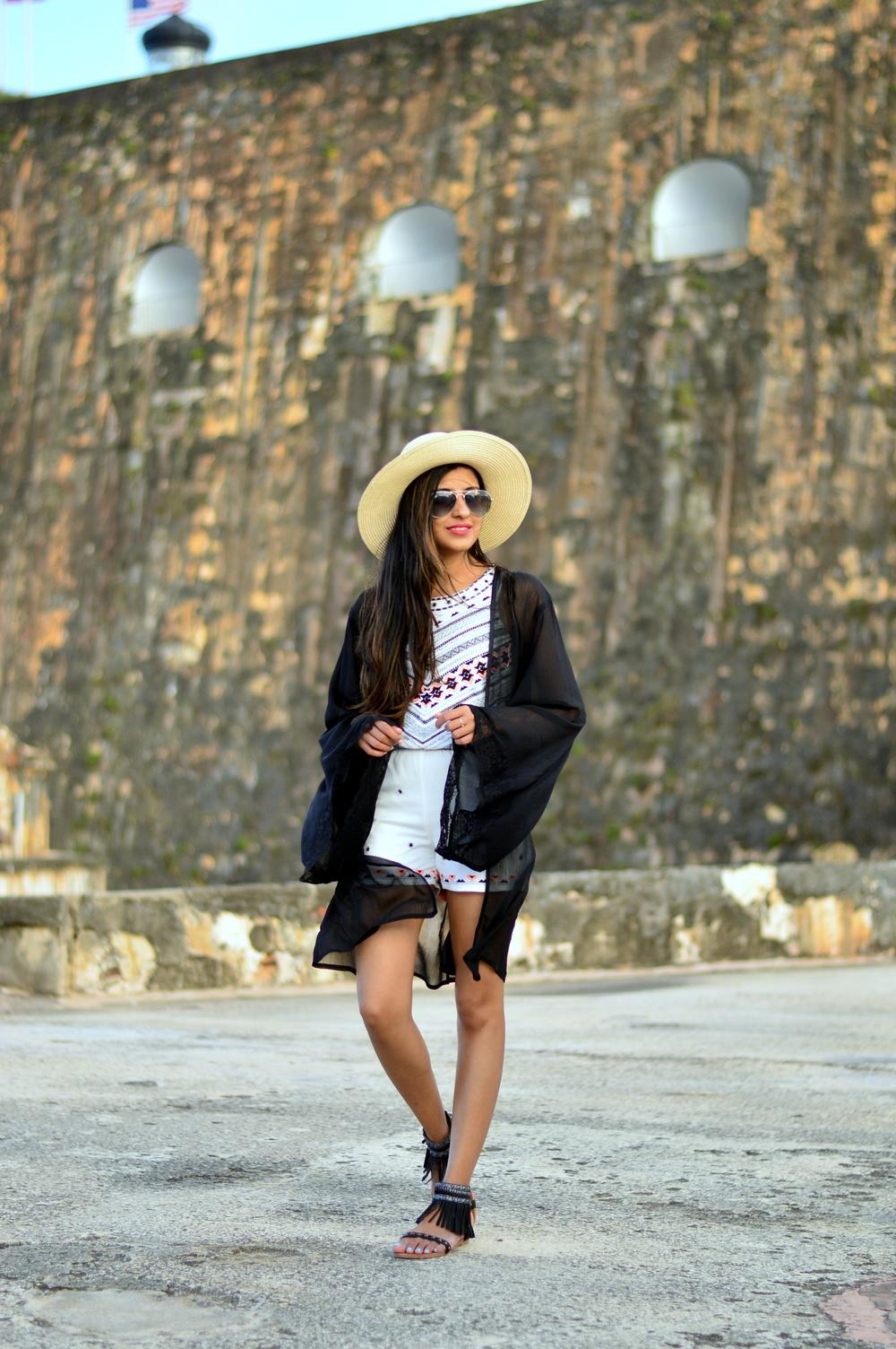 embellished-playsuit-kimono-cardigan-boho-outfit