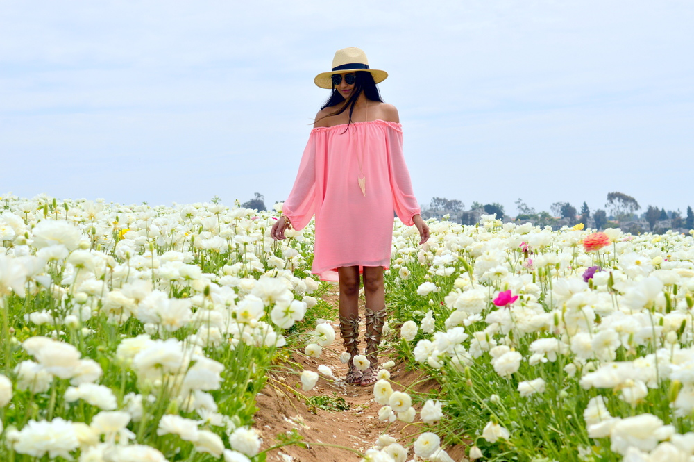 off-shoulder-dress-boho-festival-style-flower-fields 3