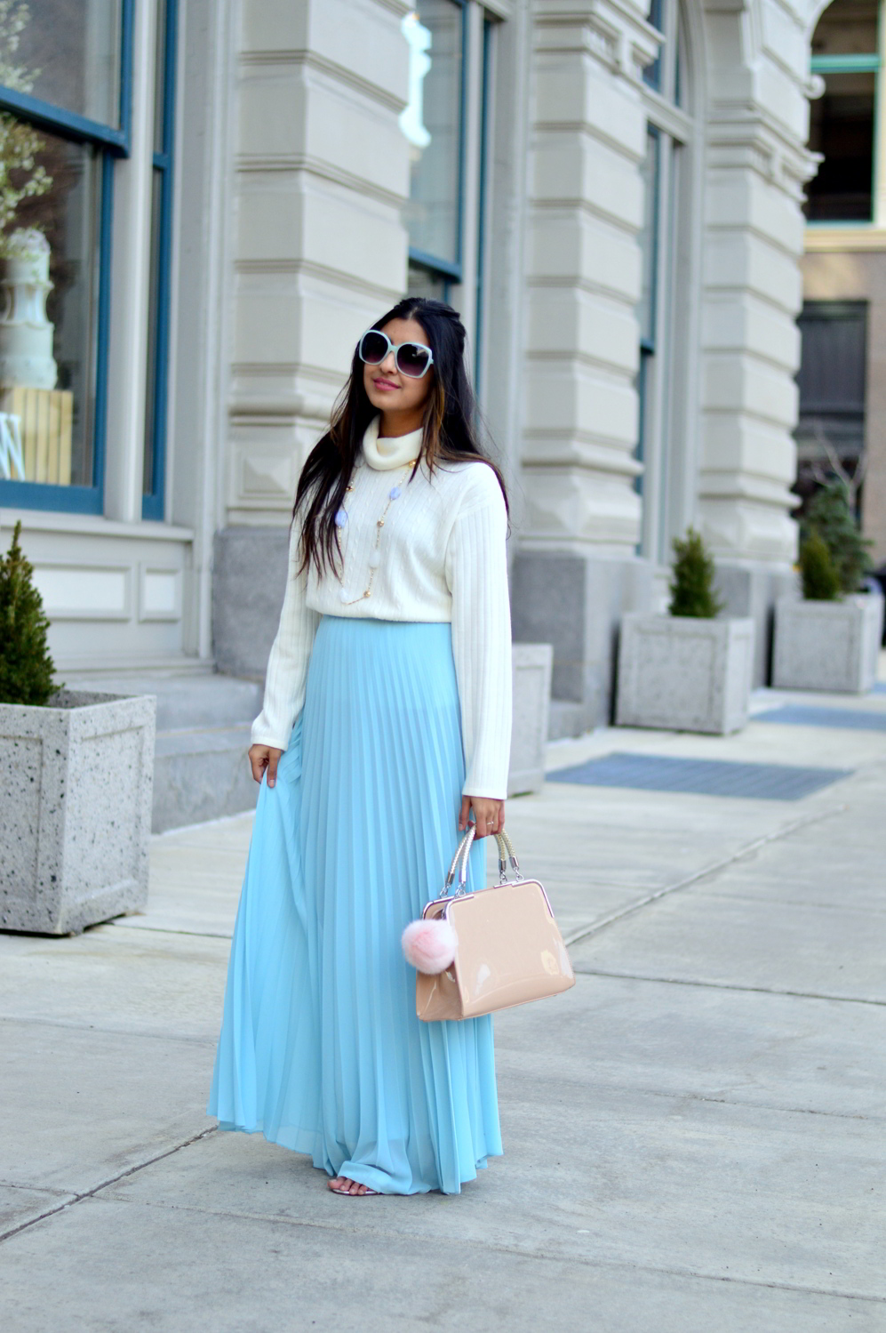 pleated-maxi-skirt-spring-style 1