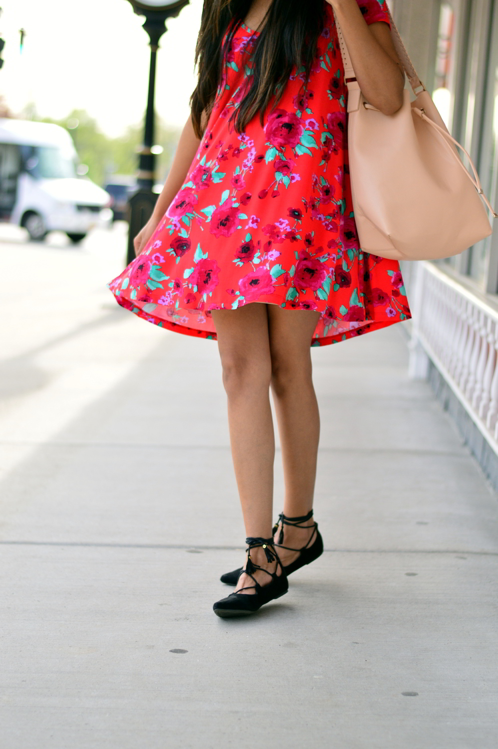 floral-swing-dress-lace-up-flats-spring-summer-style 10