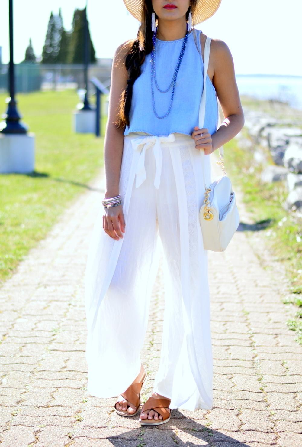 denim-crop-top-white-wide-leg-pants-blogger-outfit 5