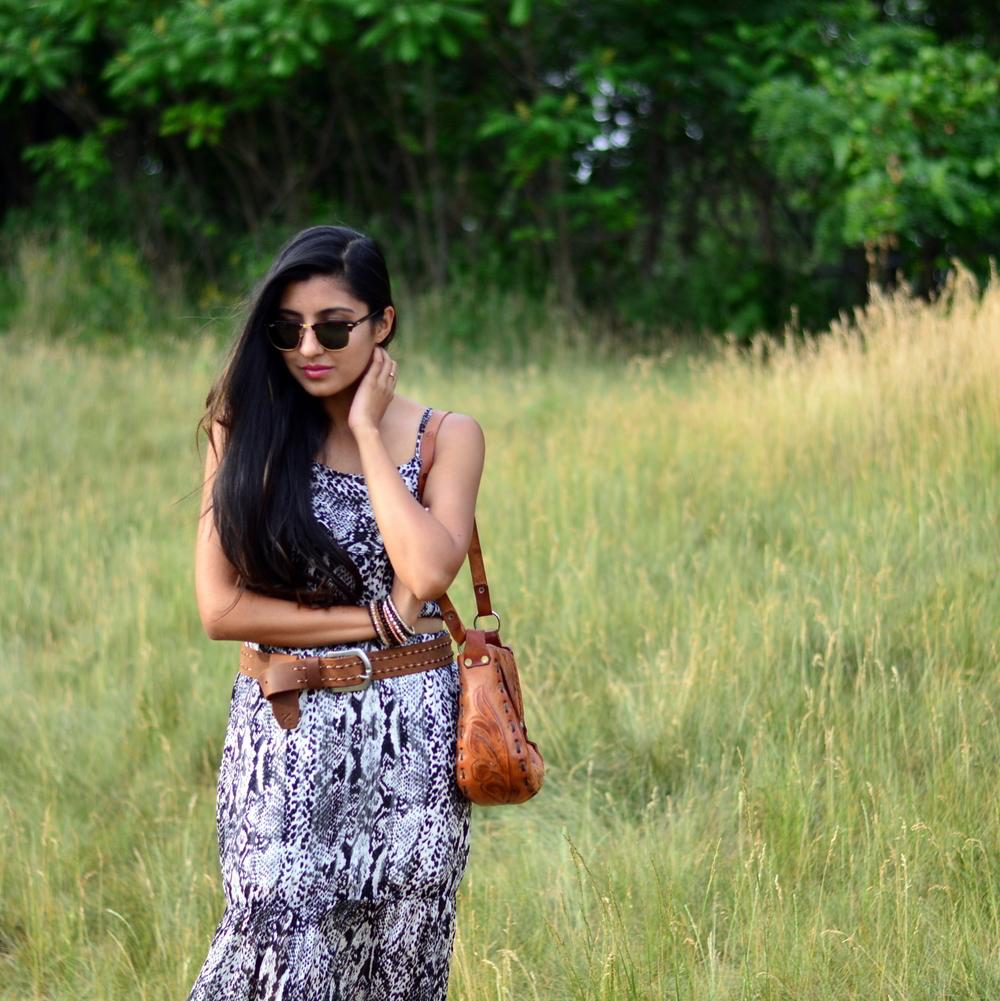 python-print-maxi-skirt-set-boho-chic-blogger-outfit 2