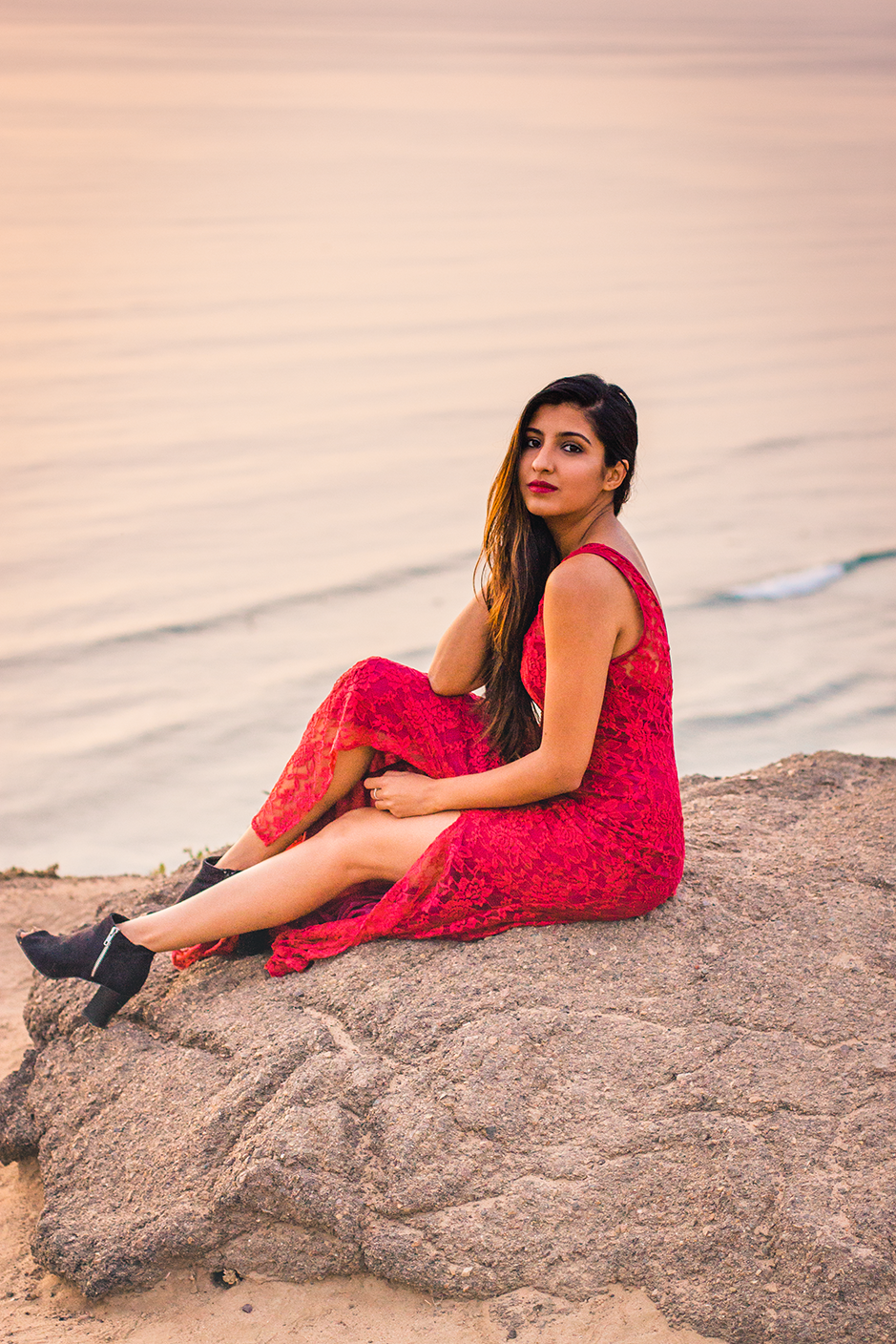 red-lace-maxi-dress-editorial-shoot-san-diego 1