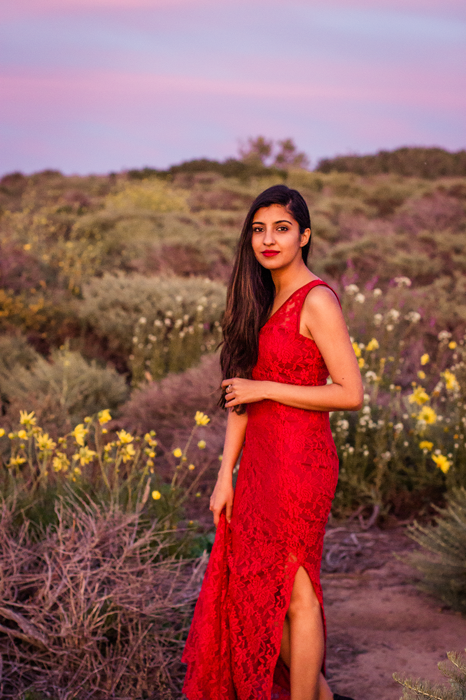 red-lace-maxi-dress-summer-beach-outfit-la-jolla-san-diego 4