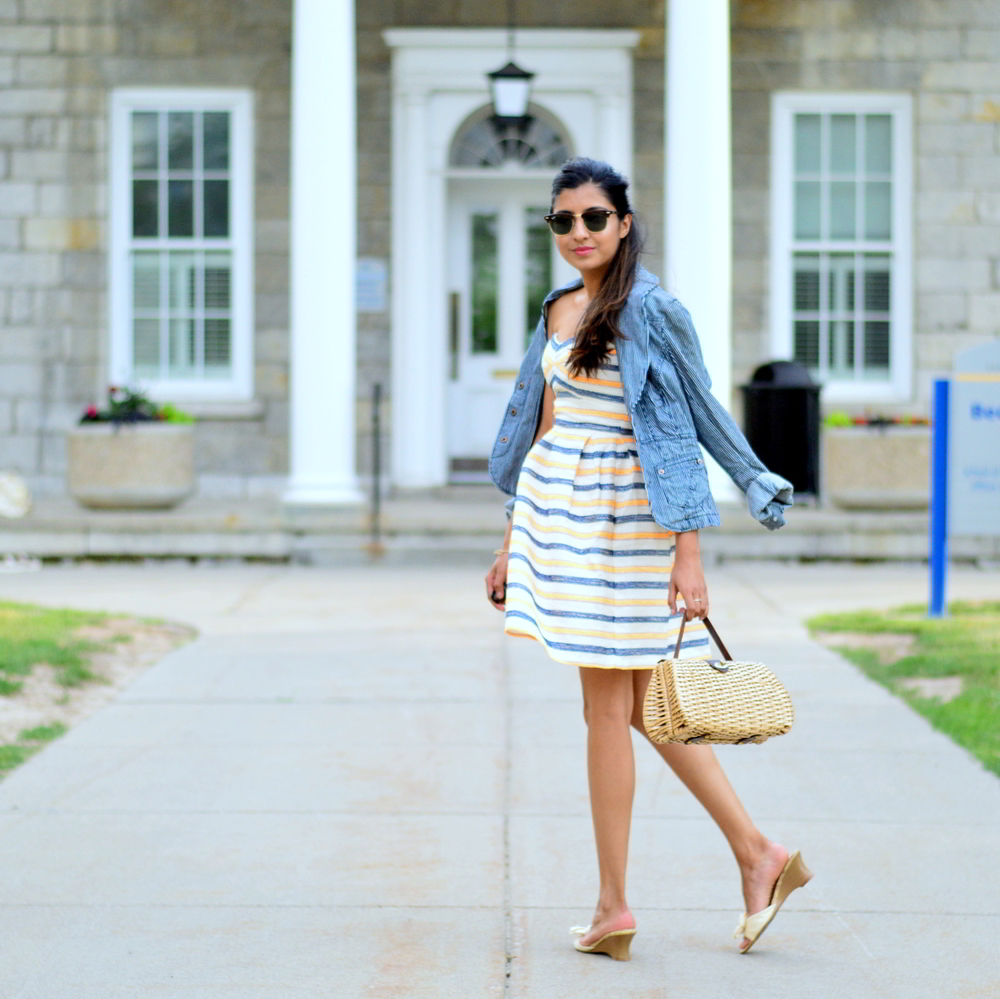 summer-striped-dress-denim-jacket-blogger-style-outfit 6